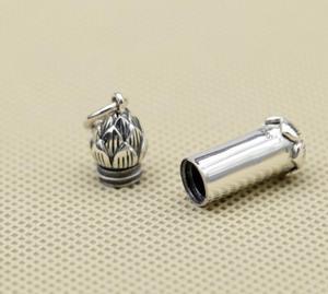 Image 3 - S925 Sterling Silber Einfache Lotus Rohr Anhänger (FGL)