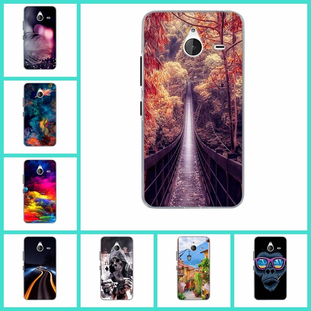 Para nokia lumia 640 xl phone case ultra tpu cubierta de pintura teléfono bolsas