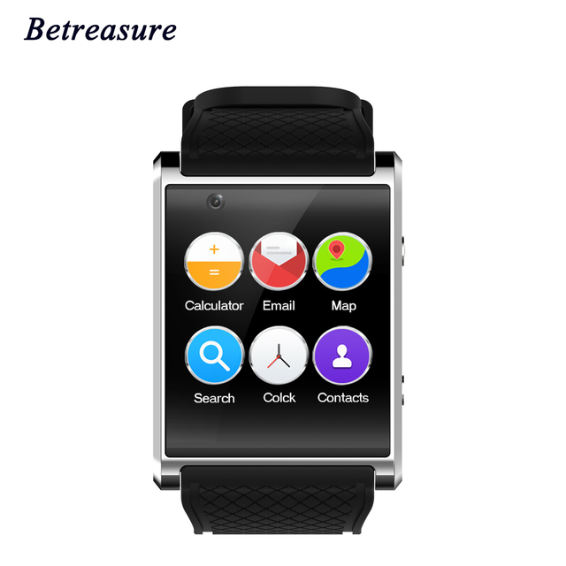 Betreasure Bluetooth 3 г Wi-Fi умные часы Android 5.1 SOS Камера 2.0 1.54 дюймов sim-карты GPS SmartWatch для IOS телефона Android