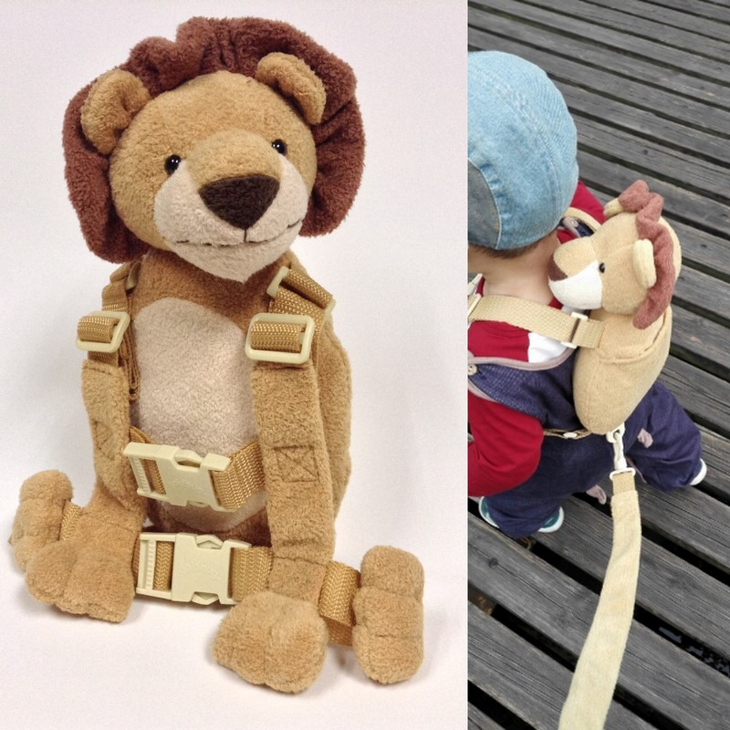 Cute 2 in 1 Harness Buddy Baby Safety Harnesses Ransel Mainan Hewan Bebe Walking Reins Toddler Leashes Kid Keeper Carriers
