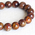 Natural Genuine A Zambia Blue Brown Pietersite Stretch Men's Stretch Finish Bracelet Round Big beads 12mm 04333