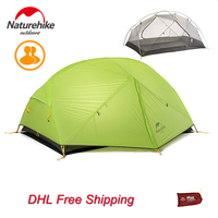Naturehike DHL Free Shipping 3 Season 2 Person Barraca Camping Tent 20D Silicone Double Layer Waterproof
