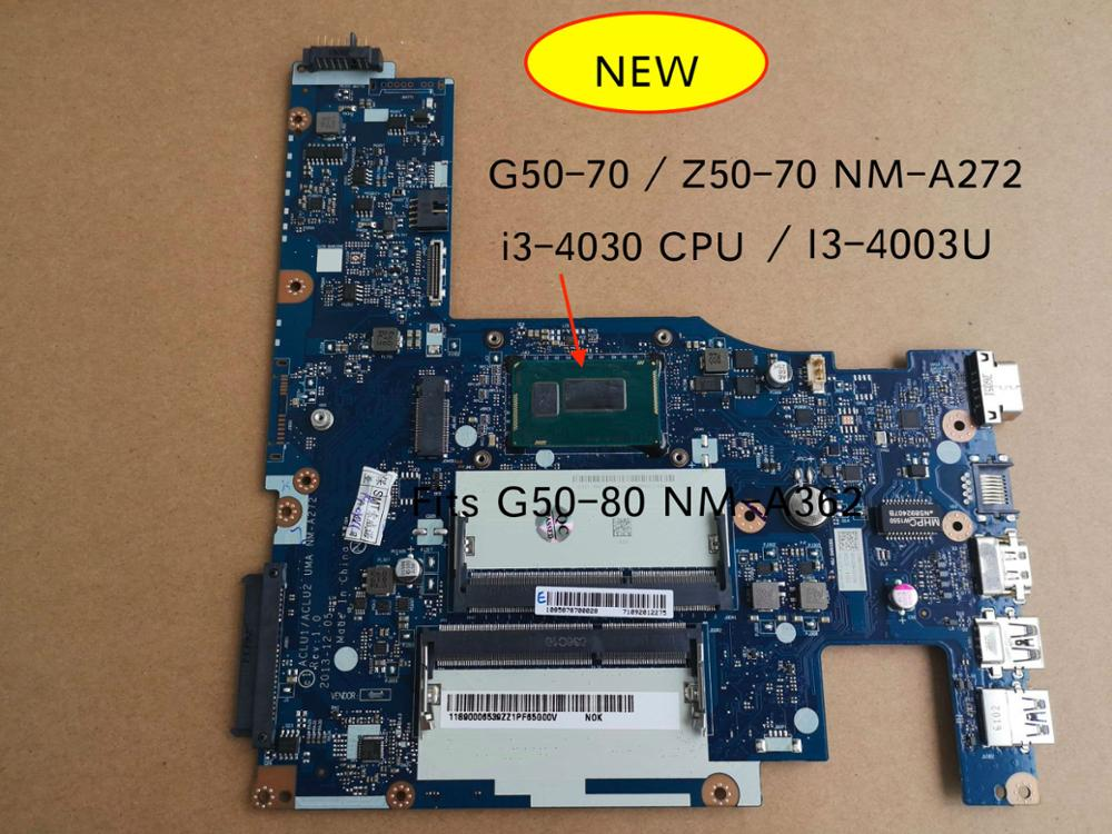 NEW For Lenovo G50-70 Z50-70 G50-80 Notebook Motherboard ACLU1 ACLU2 NM-A272 NM-A362 Mother Board