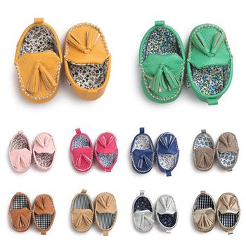 Moccasin First Walkers Newborn Baby Shoes Toddler Prewalker Shoes Baby Boy Girl Pu Tassel pendant Leather Shoes 1