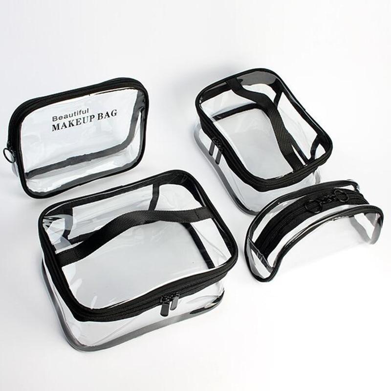PVC Square Cosmetic Bag, Transparent Waterproof Travel Makeup Packaging Cube, Fashion Organizer Bag
