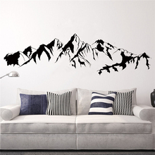 Mountain Landscape Wall Sticker Livingroom Home Decoration Vinyl Art Removeable Design Ornament Decals Decor LX54