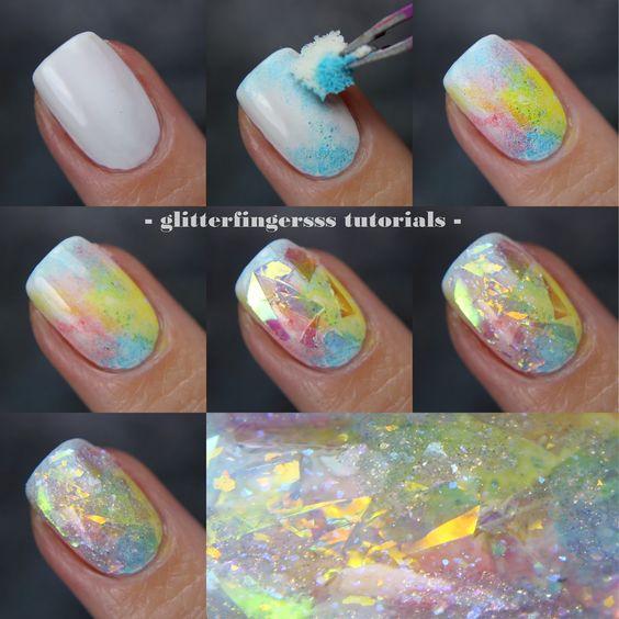 2016 Жаңа Nail Art Sequins Glitter Flakes Шампан Түсті - Маникюр - фото 3