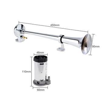 Universal 17 Inch 150DB Keras Mobil Air Horn 12 V 180 Hertz Satu Terompet Kompresor untuk Truk Mobil Mobil Tinggi kualitas