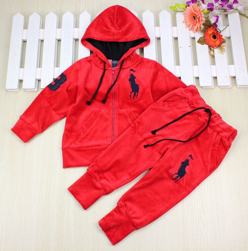 7577a3a76a72 Autumn 2014 New Fashion Baby Boys and Girls POLO Clothing Set Children  sports suit Kids Costumes boy's suit Velvet Outfits-in Clothing Sets from  Mother ...