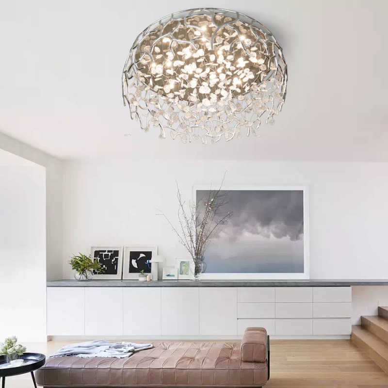 simple and modern nordic creative large living room lighting led master bedroom warm romantic personality lighting ceiling lamp