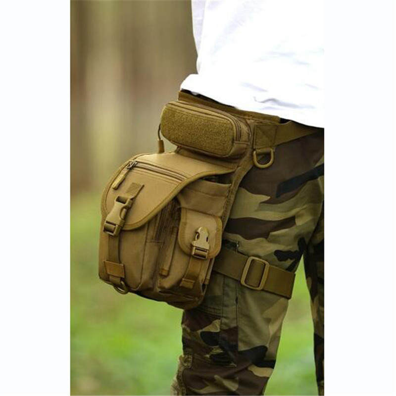 Hot Nylon Thigh Leg Drop Bag Waterproof Man Travel Thigh Hip Belt Bum Fanny Pack Casual Male Military Waist Packs Free Shipping