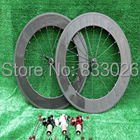 1 paire Nouveau 700C 88mm jante vélo de Route 3 k plein carbone essieux de vélo avec Novatec 271/291 hubs + aero rayons + brochettes