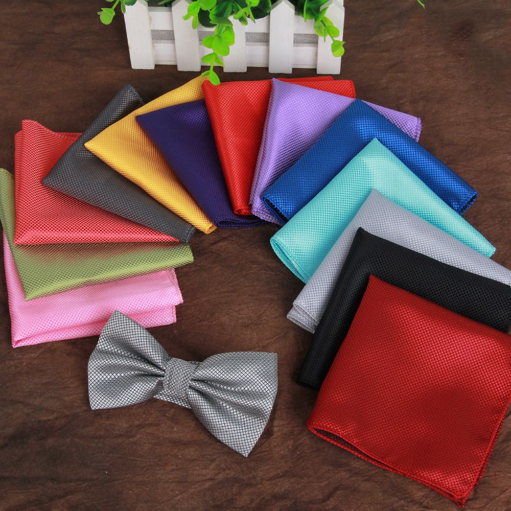 Men's Suit Handkerchief 22cm*22cm Square Handkerchief Mens Silk Pocket Square Hanky Party Hankies