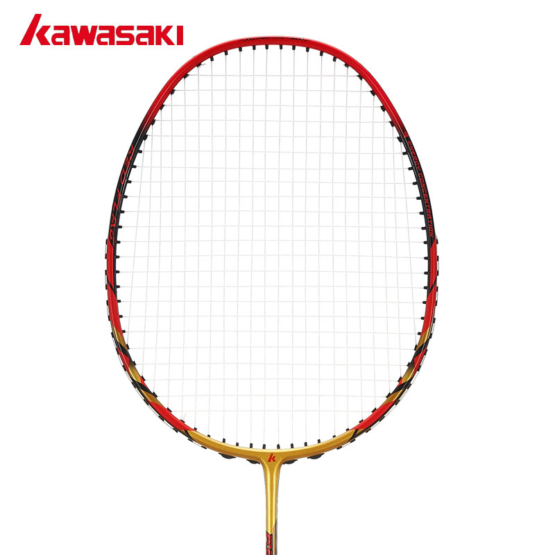 Kawasaki Brand Defensive and Offensive Type Badminton Racket with String Professional Badminton Racquets Red Flag F100 professional offensive full carbon fiber badminton single racket super light 5u racquets with stringing and gift box q1256cmc