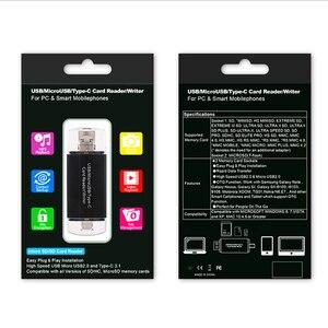 Image 5 - NIEUWE Type C & Micro USB & USB 3 In 1 OTG Kaartlezer High speed USB2.0 Universal OTG TF/SD voor Android Computer Uitbreiding Header