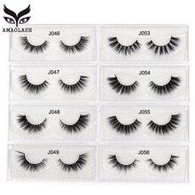 AMAOLASH 3D Mink Lashes 27 Styles Thick Eyelashes High Volume Cross False Natural Fake Eyelash Makeup Extension