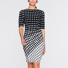 2017 New Fashion Hot bodaycorn Half Sleeve print Dress Elegant Retro Party summer Dress Brand Plus Size Clothing vestido 123