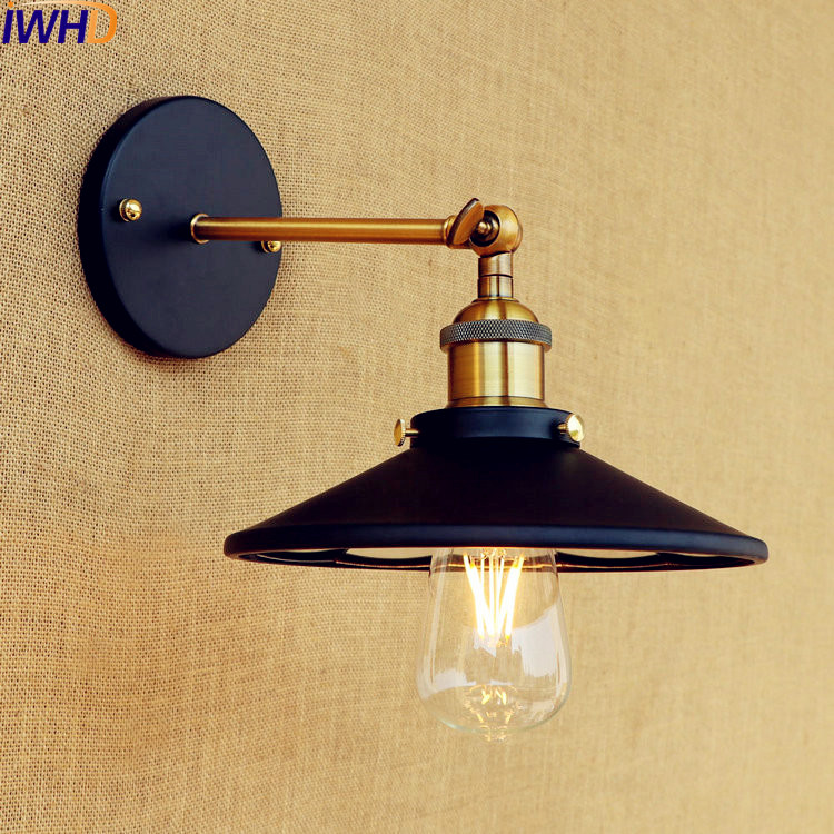 Led Indoor Wall Lamps Led Lamps Iwhd Loft Industrial Retro Wall Lights Fixtures Hallway Balcony Bar Glass Lampshade Vintage Wall Lamp Led Stair Light Luminaire