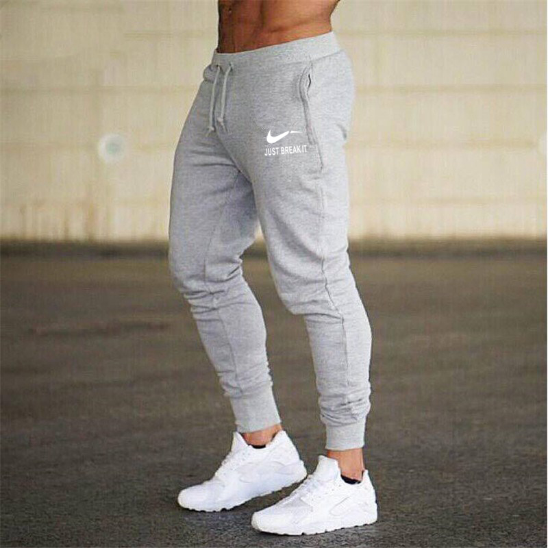 2018 New Males Joggers Model Male Trousers Informal Pants Sweatpants Jogger Gray Informal Elastic Cotton Gyms Health Exercise Pan