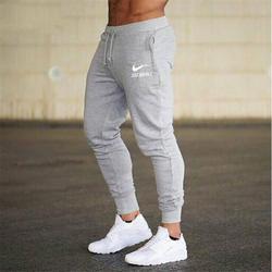 Новинка 2018 года для мужчин бегунов бренд мужской мотобрюки брюки, тренировочные брюки в повседневном стиле Jogger серый повседневное