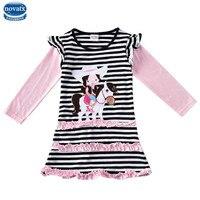 Novatx H7128 Per Bambini nuova vendita calda maglia a manica lunga Ragazze Abiti autunno neonate del vestito vestiti per bambini abiti di moda