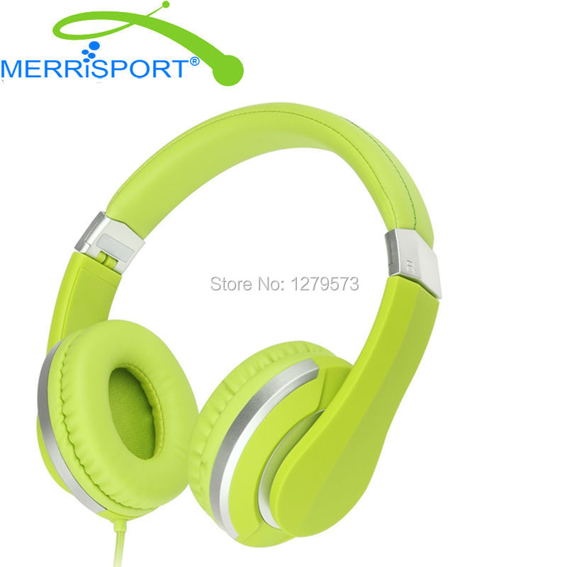 MERRISPORT Over Ear Headphones for Kids Boys Girls Children Teens Adults Stereo Headsets With Mic for Iphone Samsung MP3 Players hormonal key players for obesity in children with down syndrome