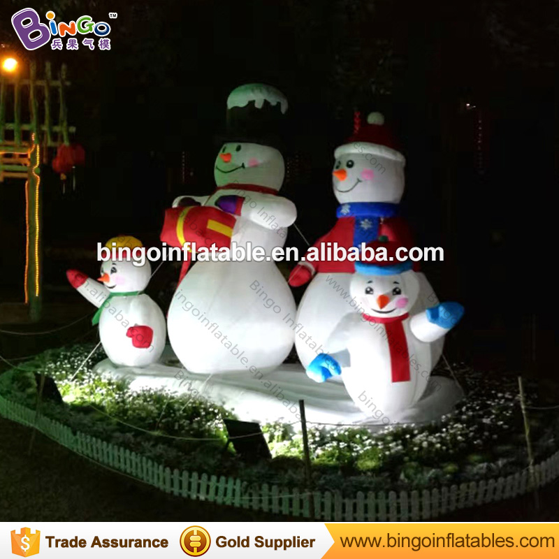 nightmare before christmas decor inflatable christmas snowman family holiday yard decoration 3m inflatable christmas 4 snowmans in inflatable bouncers from