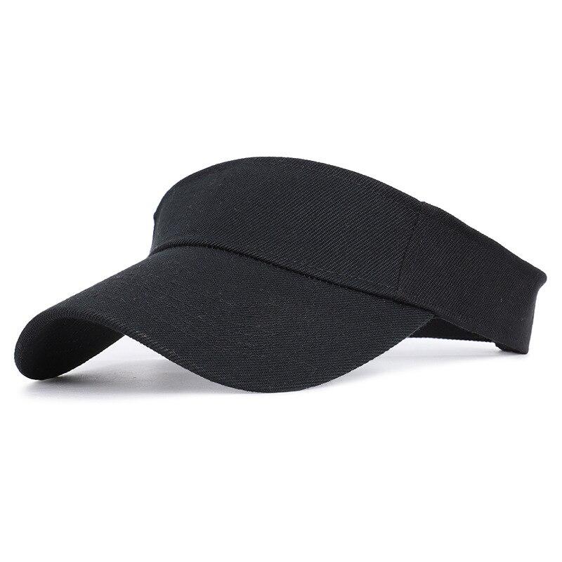 2019 New Women Sunscreen Visor Hat Summer Outdoor Running Sports Adjustable Solid Baseball Topless Tennis Sun Visor Cap