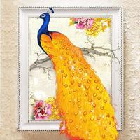 5D Diy Diamond Embroidery Paintings Rhinestone Pasted 3D Diamond Painting Cross Stitch Animal Peacock Diamond Mosaic