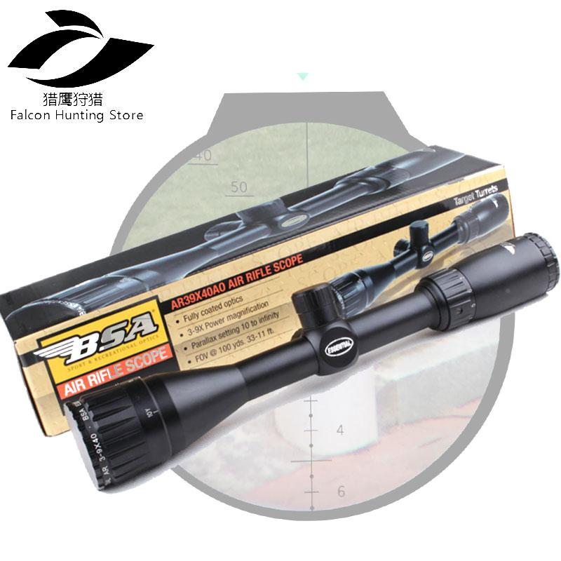 Tactical BSA Essential AR 3-9x40 AO Air Gun Mildot Optical Sight Hunting Rifle Scopes цена и фото