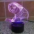 Zootopia Preguiça Flash Lâmpada de Lava Lâmpada Noite 3D Toque lamparas de mesa de Luz Da Noite Da Novidade para Crianças 3D Led Desk lâmpada