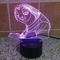 Zootopia Sloth Flash Lava Lamp 3D Night Lamp Touch lamparas de mesa Novelty Night Light for Children Led 3D Desk Lamp