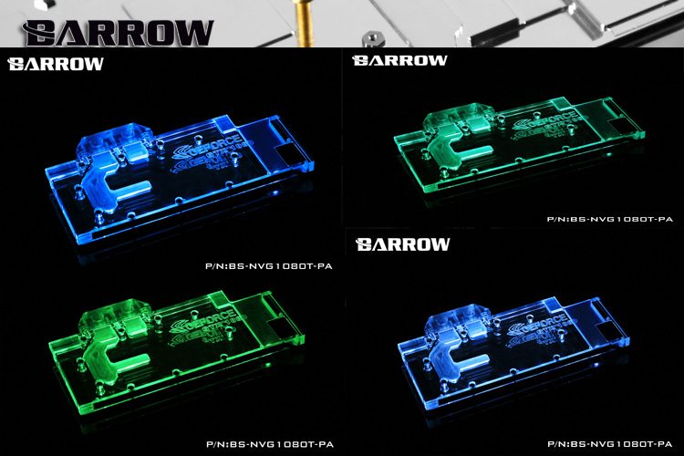 Купить с кэшбэком BARROW Full Cover Graphics Card Block use for Palit/NVIDIA GTX TITAN XP TITAN X/1080TI/1080/1070 Founder / Reference Edition
