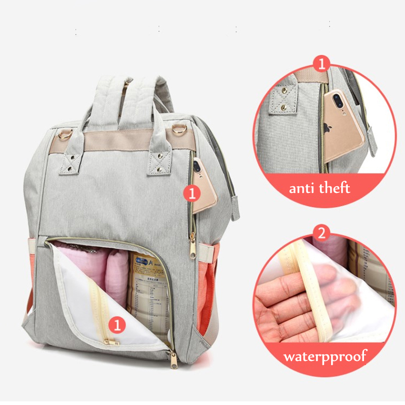 Waterproof Baby Bag Travel Backpack Women Maternity Nursing Bag For Baby Large Capacity Mom Backpack Women Carry Care Bags #6