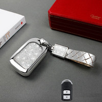Car Key Case Dedicated For Honda Civic Keychain CRV Crown Accord Car Key Set XRV Binzhijie Defeng Fan Keychain Shell