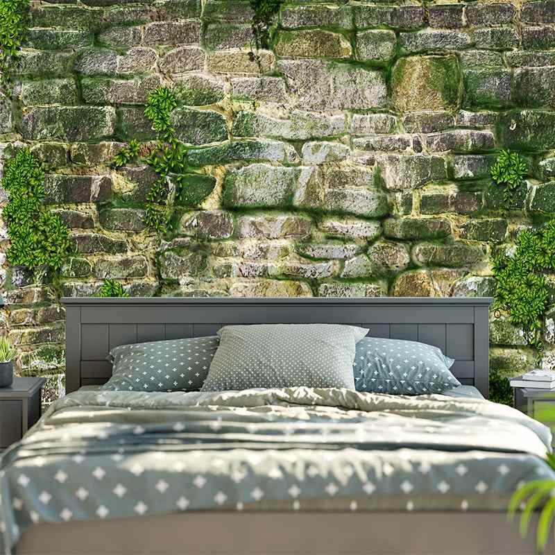 3D หินอิฐ Tapestry Wall แขวนสาหร่ายสีเขียว Bohemian ผ้าผนังตกแต่งขนาดใหญ่ Hippie Mandala Tapestry ใหม่