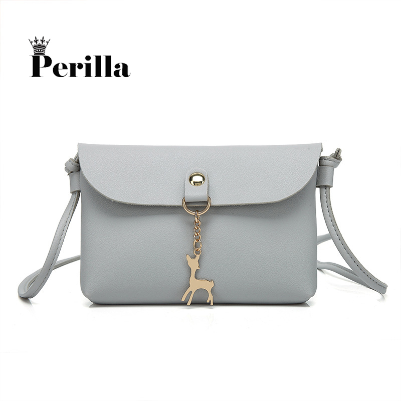 2017 Women Shoulder Bags Fashion Mini PU Bag With Deer Toy Shell Shape Women Small Messenger Crossbody Bag Ladies Button HandBag fashion women mini messenger bag pu leather shell shape bag crossbody shoulder bags with deer toy popular