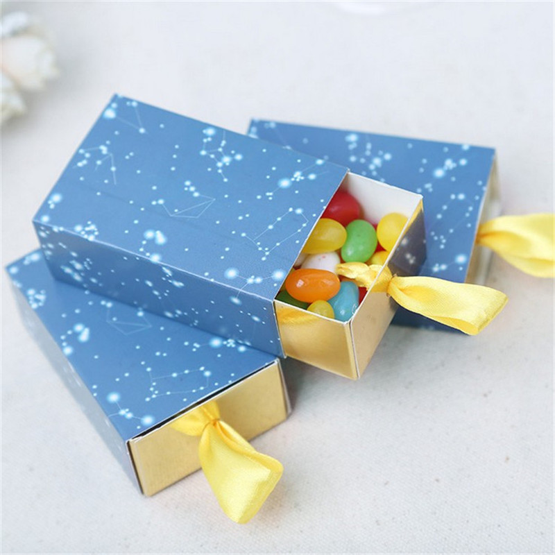 free shipping 20pcslot romantic stars theme birthday boy baby shower favors boxes baby shower