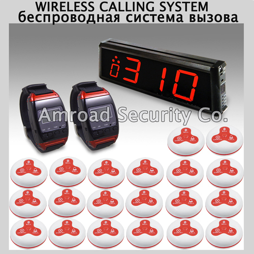 1Set Wireless Call Calling Waiter Paging Service System w 20pcs buttons CALL,BILL,CANCEL for Restaurant Pub Coffee Bar AT-WC1220
