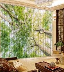 Sheer zasłony drzewo krajobraz zasłony do salonu sypialni nowoczesne dla dzieci zasłony nowoczesne Fashion Hotel zasłony biurowe
