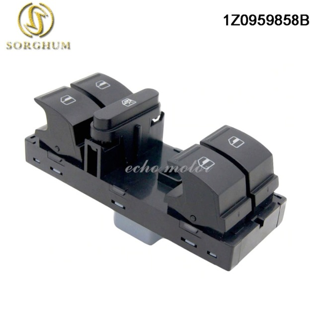 New For SKODA Fabia Octavia Super B For Yeti DRIVER Power Window Switch Button 1Z0959858B 1Z0 959 858B 1ZD959856