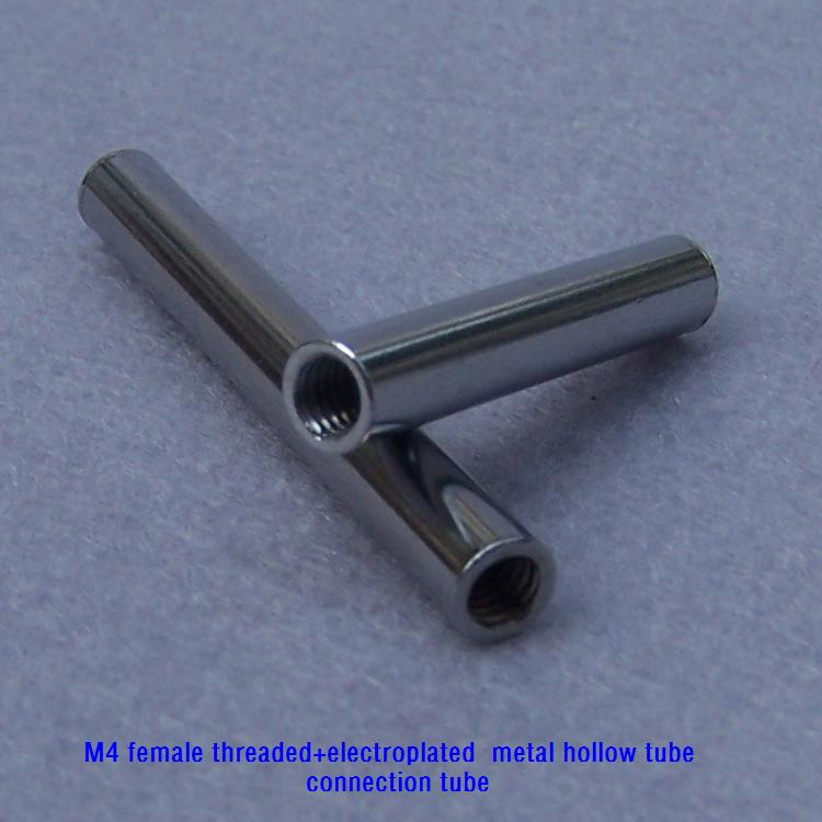 Pieces lot m female threaded electroplated metal hollow