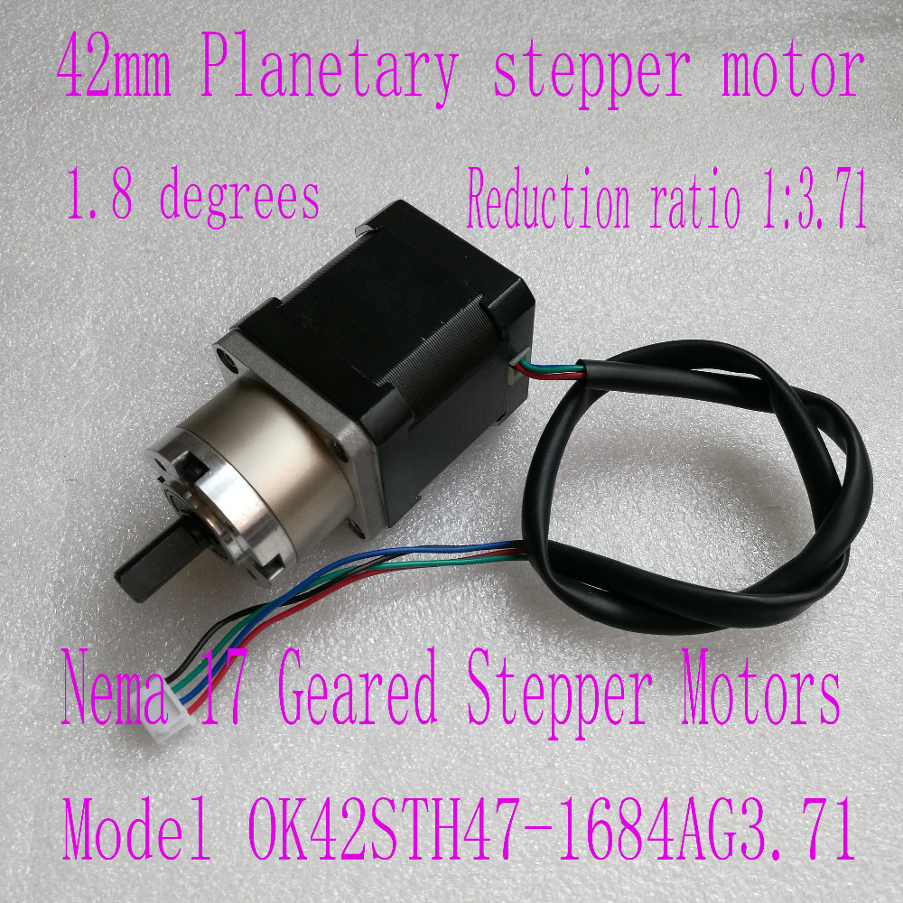New Best Gear ratio 1:3.71 Planetary Gearbox stepper motor Nema 17 1.7A Geared Stepper Motor 3d printer stepper motor new best gear ratio 1 3 71 planetary gearbox stepper motor nema 17 1 7a geared stepper motor 3d printer stepper motor