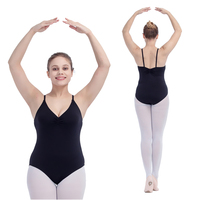 Retail Wholesale Black Microfiber Camisole Ballet Dance Leotard Pink Girls Dancewear Training Suit Women Bodysuit Gymnastics