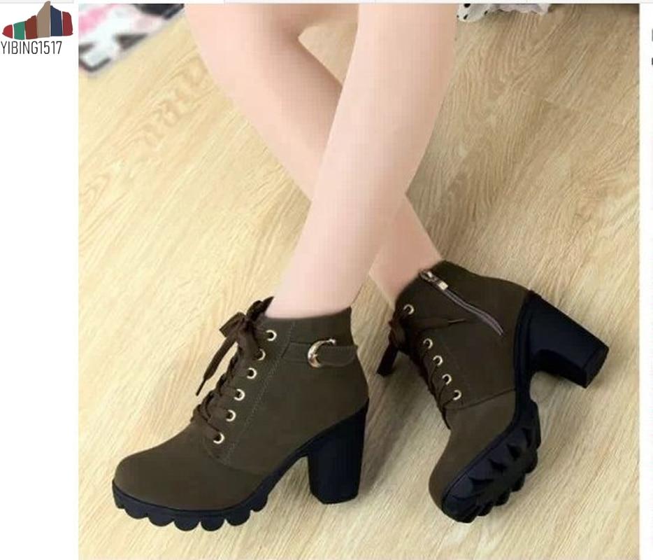 Sonbahar Kış 2018 Kadın çizmeler kadın ayakkabıları Bayanlar Kalın Kürk yarım çizmeler Kadınlar Yüksek Topuk Platformu kauçuk ayakkabı Kar Botları