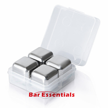 Hot Sale New Stainless Steel Ice Cubes Cool Glacier Rock Neat Drink Freezer gel Wine Whiskey Stones Great Gift