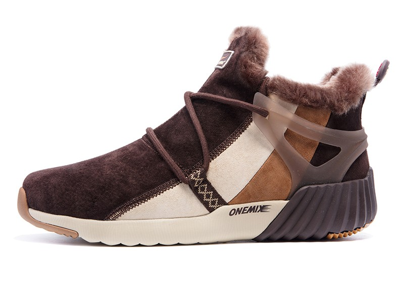 ONEMIX New Winter Running Shoes for women Comfortable Women's boots Warm Wool Sneakers Outdoor Unisex Athletic Sport Shoes women 25