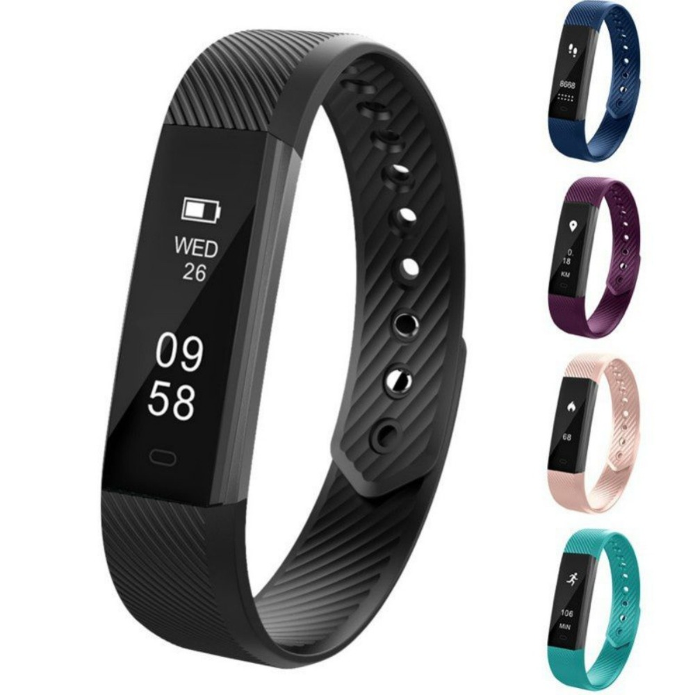 ID115 Smart Bracelet Fitness Tracker Smart Wristband Pedometer Compatible Smartband Waterproof Sleep Monitor Wrist Watch