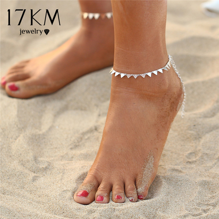 HTB1w9z2QXXXXXbhXFXXq6xXFXXXd Charming Triangle Geometry Fashion Anklet