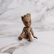 Guardians Of The Galaxy 2 Tree Man Grout Sitting Collectible Anime Toy PVC Cartoon Mini Action Figure Doll Toys model rmdmyc toy guardians of the galaxy rocket racoon groot action figure 16cm groot 1 10 scale painted anime figure pvc model gifts